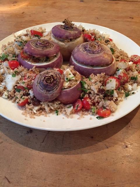 gevulde meiraap, meiraap, meiknol, groenten, biologisch, groentenpakket, gezond, vers, recept, koken, couscous, couscoussalade, vegetarisch