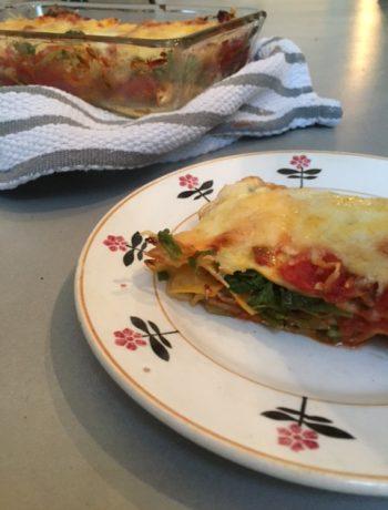 Lasagne met tuinmelde, tuinmelde, groenten, biologisch, recept, gezond, seizoensgroenten, vegetarisch